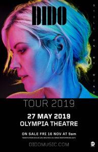 dido olympia theatre 2019 tour dublin