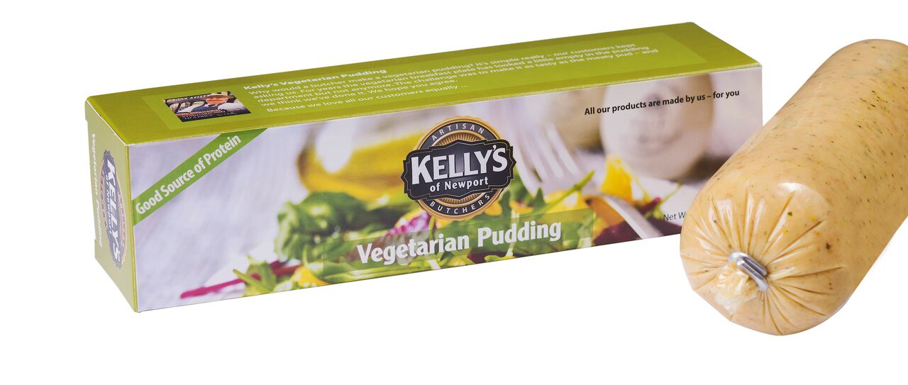 Aldi, Vegetarian, Vegetarian White Pudding, Kelly's of Newport,