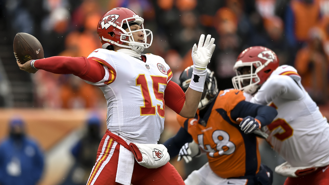 Patrick Mahomes will feature in the playoffs this weekend