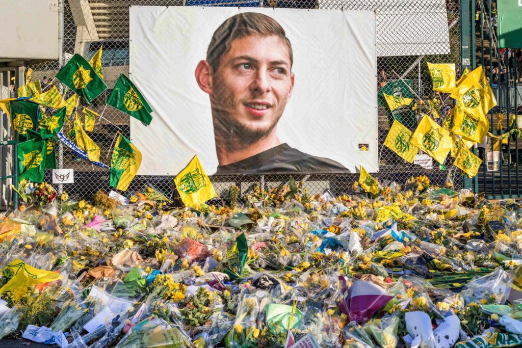 Memorial to Emiliano Sala at La Beaujoire stadium in Nantes