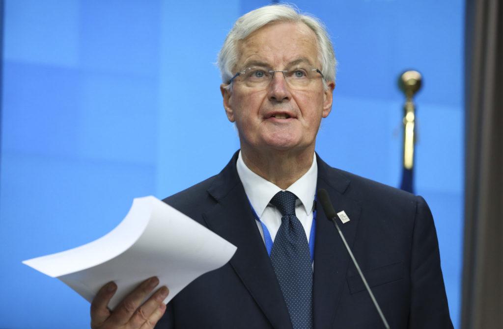 Michel Barnier, who met with Jeremy Corbyn in Brussels today