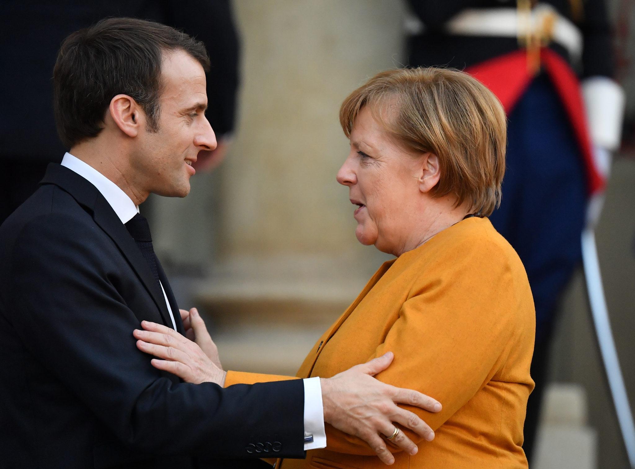 Macron Merkel Brexit