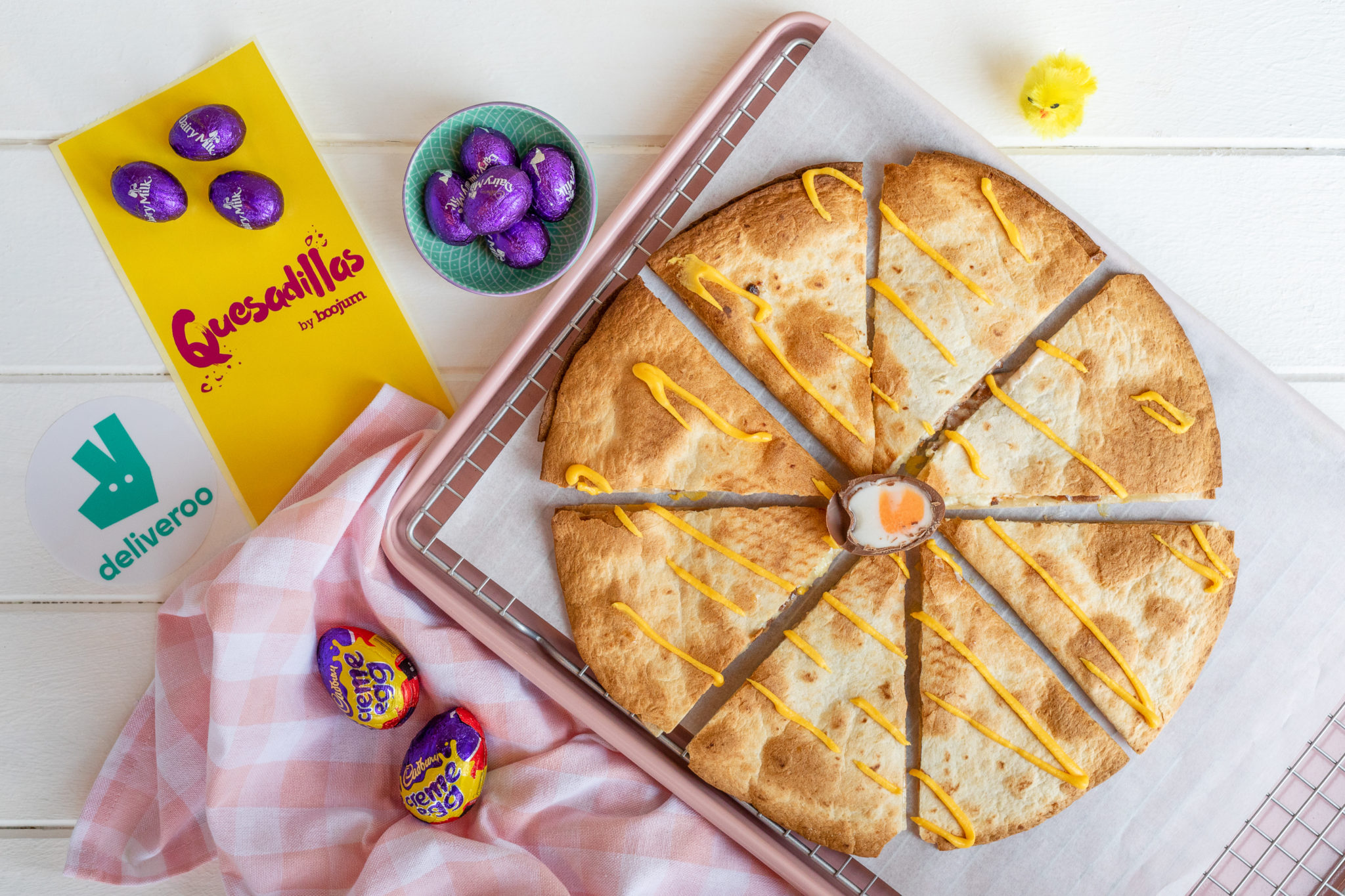 Creme Egg Quesadillas, Boojum, Easter,