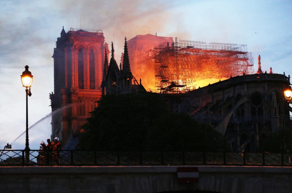 Notre-Dame Cathedral in Paris is burning