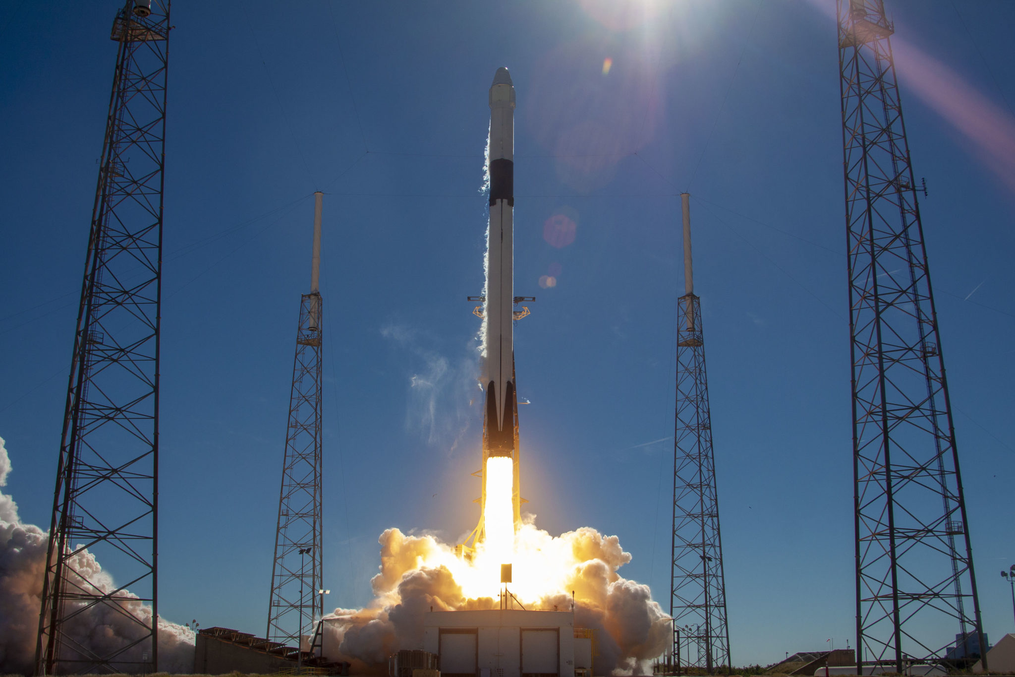 Space station shipment launched from Virginia seashore
