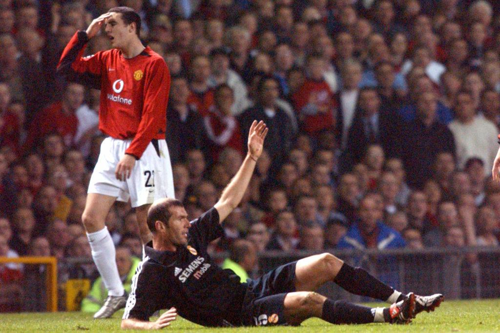 John O'Shea, Zinedine Zidane, Real Madrid, Manchester United