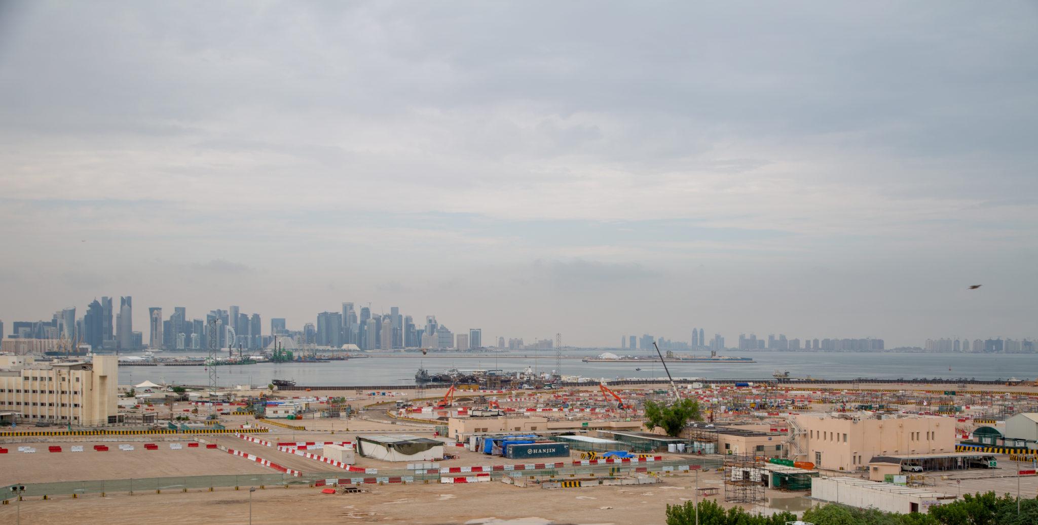 Stadium construction in Qatar.