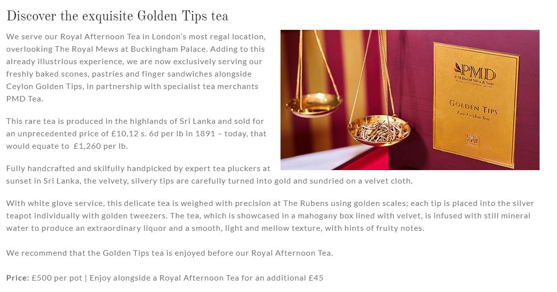 The World's Most Expensive Tea Will Set You Back 500 Quid A Pot