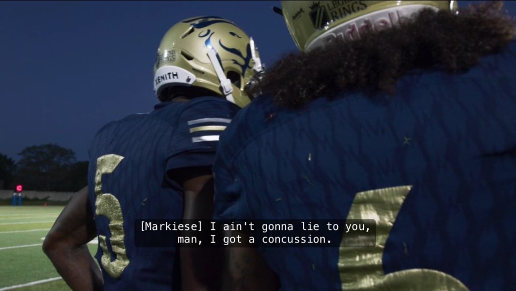 Last Chance U, Markiese King, concussion