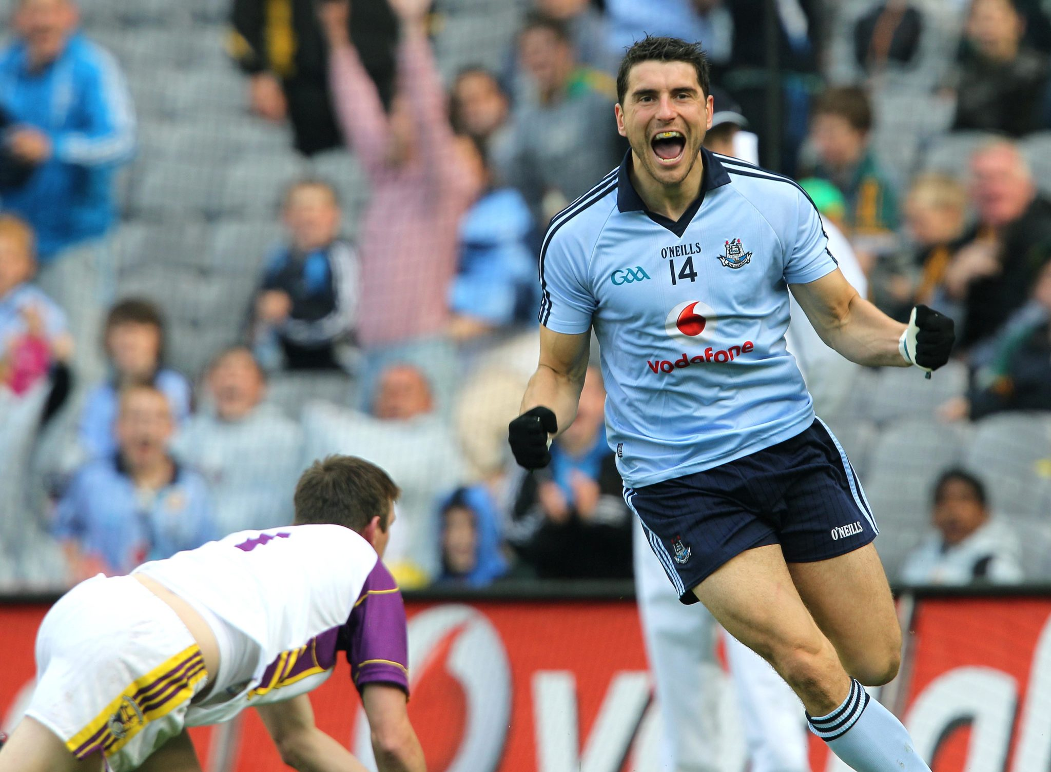 Bernard Brogan celebrates at Croke Park