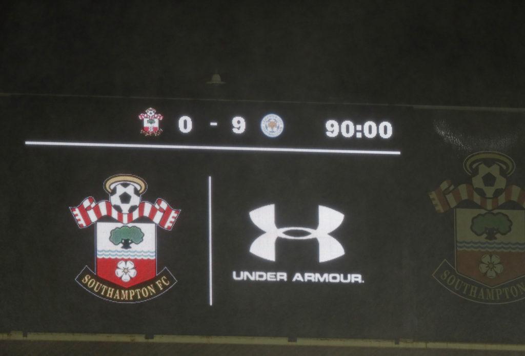 Southampton, Leicester, 9-0