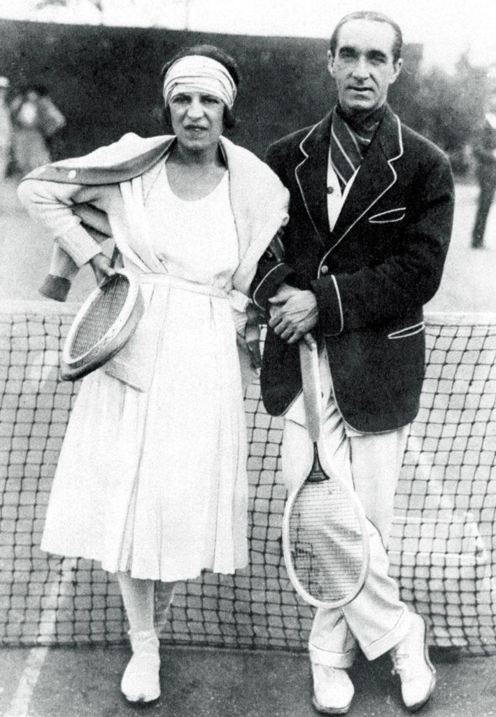Suzanne Lenglen, Max Decugis, 1920,