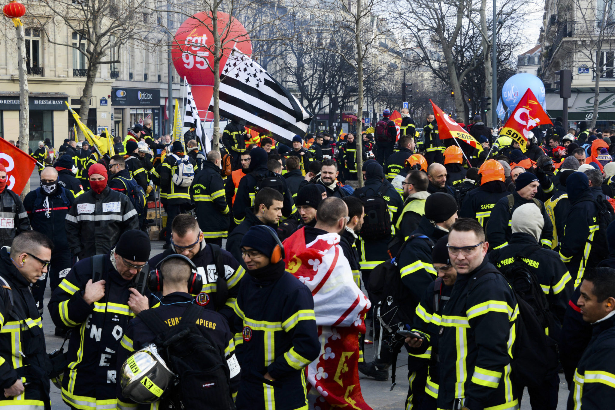 France Firefighters Protest