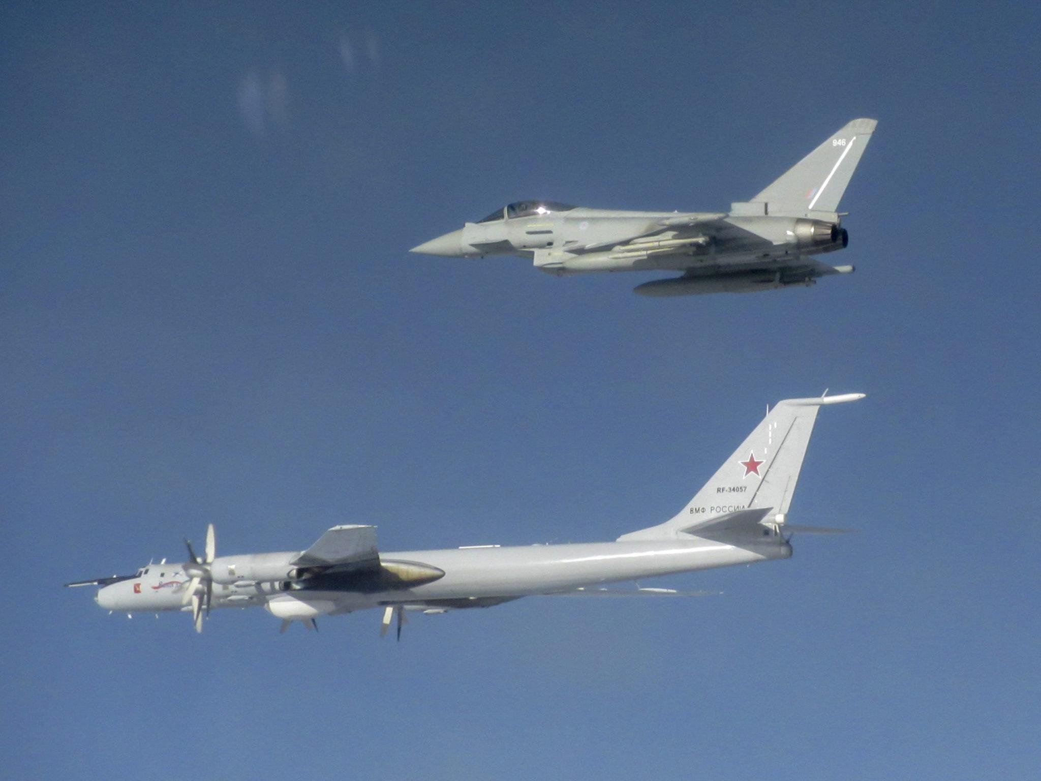 Six RAF jets intercept Russian aircraft heading for Scottish coast
