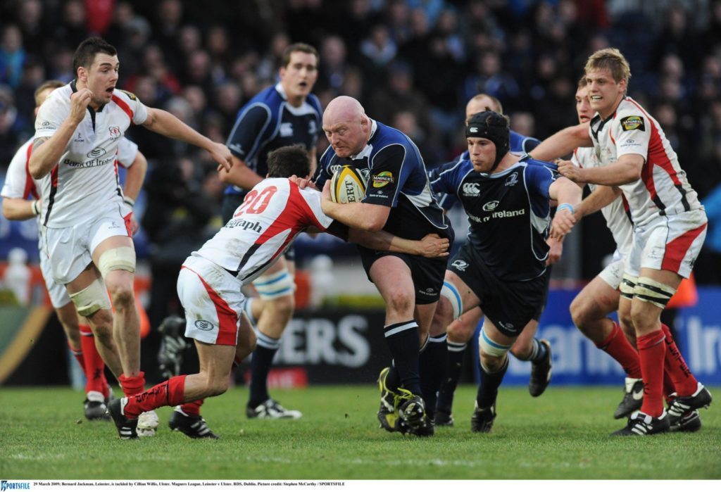 Bernard Jackman in action with Leinster in 2009. Picture credit: Stephen McCarthy / SPORTSFILE