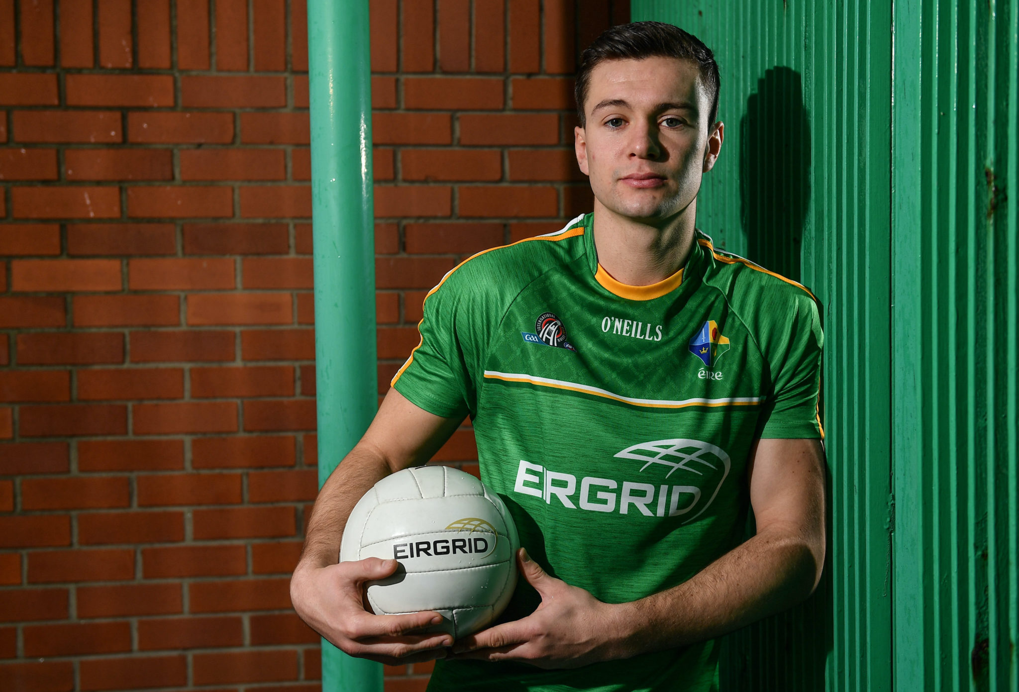 In attendance at the announcement of EirGrid as team sponsor for the International Rules side that will travel to Australia over the two-test series in November is Ireland International Rules player Conor McKenna