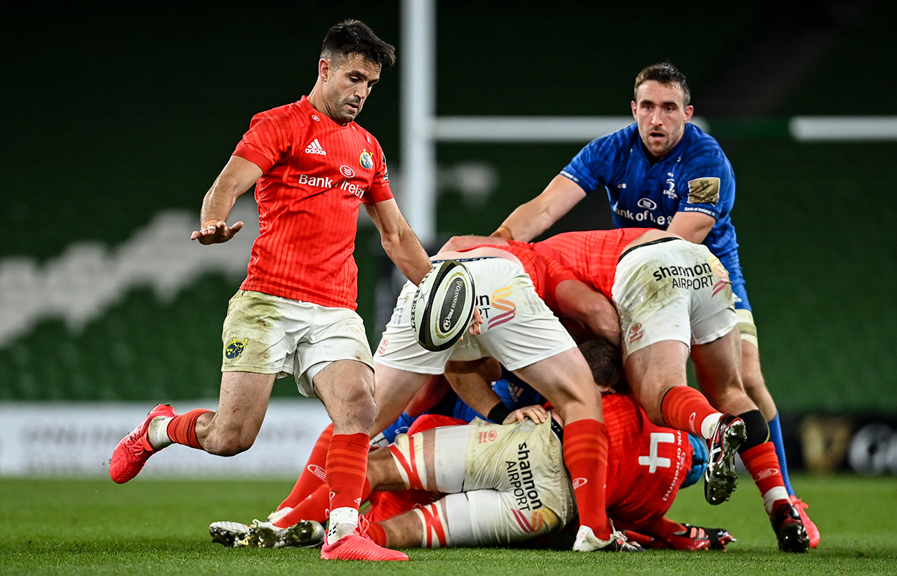 Conor Murray of Munster during the Guinness PRO14 Semi-Final match between Leinster and Munster at the Aviva Stadium in Dublin