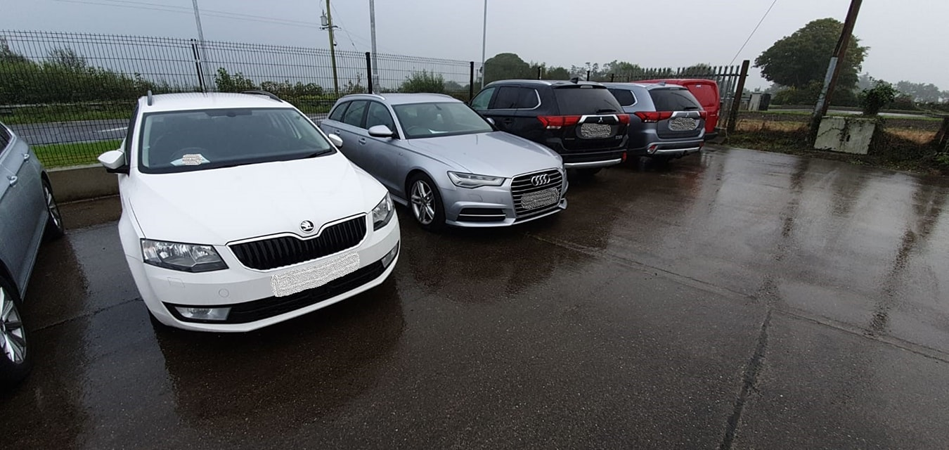Cars seized by CAB during an operation in Tipperary.