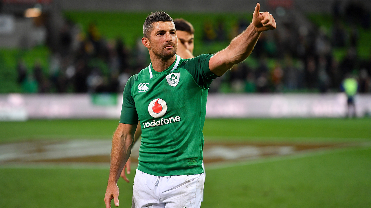 Rob Kearney of Ireland after the 2018 Mitsubishi Estate Ireland Series 2nd Test match between Australia and Ireland at AAMI Park, in Melbourne, Australia