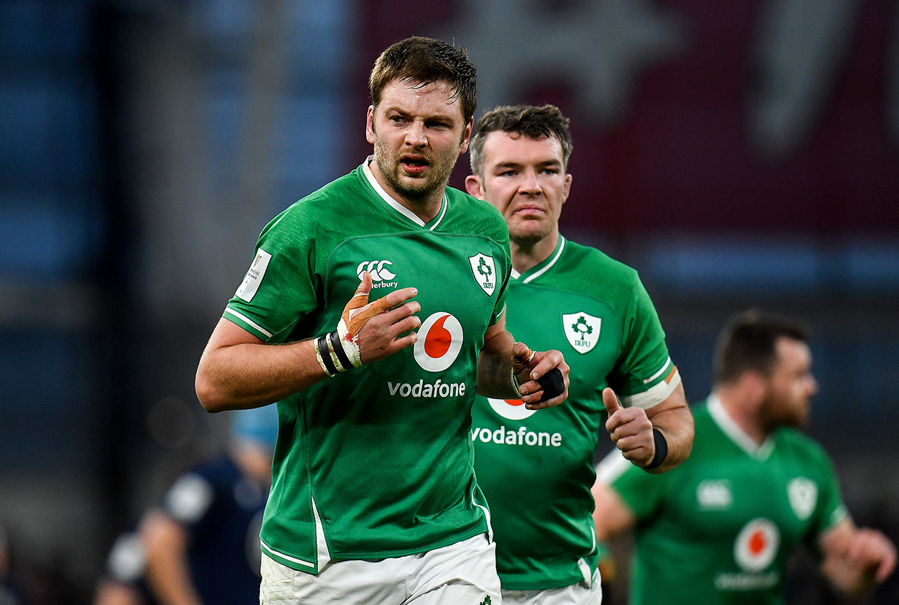 Iain Henderson of Ireland during the Guinness Six Nations Rugby Championship match between Ireland and Scotland at the Aviva Stadium in Dublin