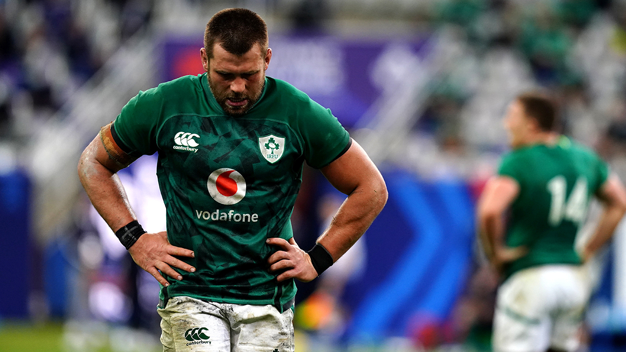 A dejected CJ Stander of Ireland near the end of the Guinness Six Nations Rugby Championship match between France and Ireland at Stade de France in Paris, France.