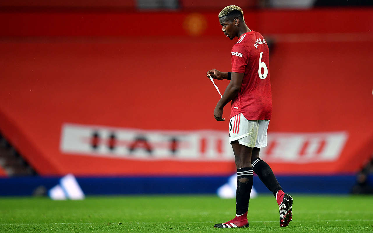 Manchester United's Paul Pogba after the Premier League match at Old Trafford, Manchester