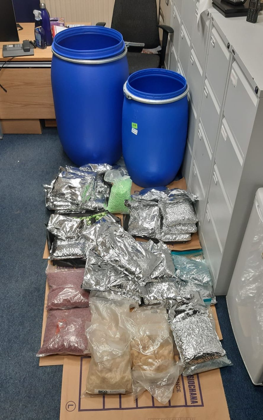 Image of the drugs discovered in Dublin
