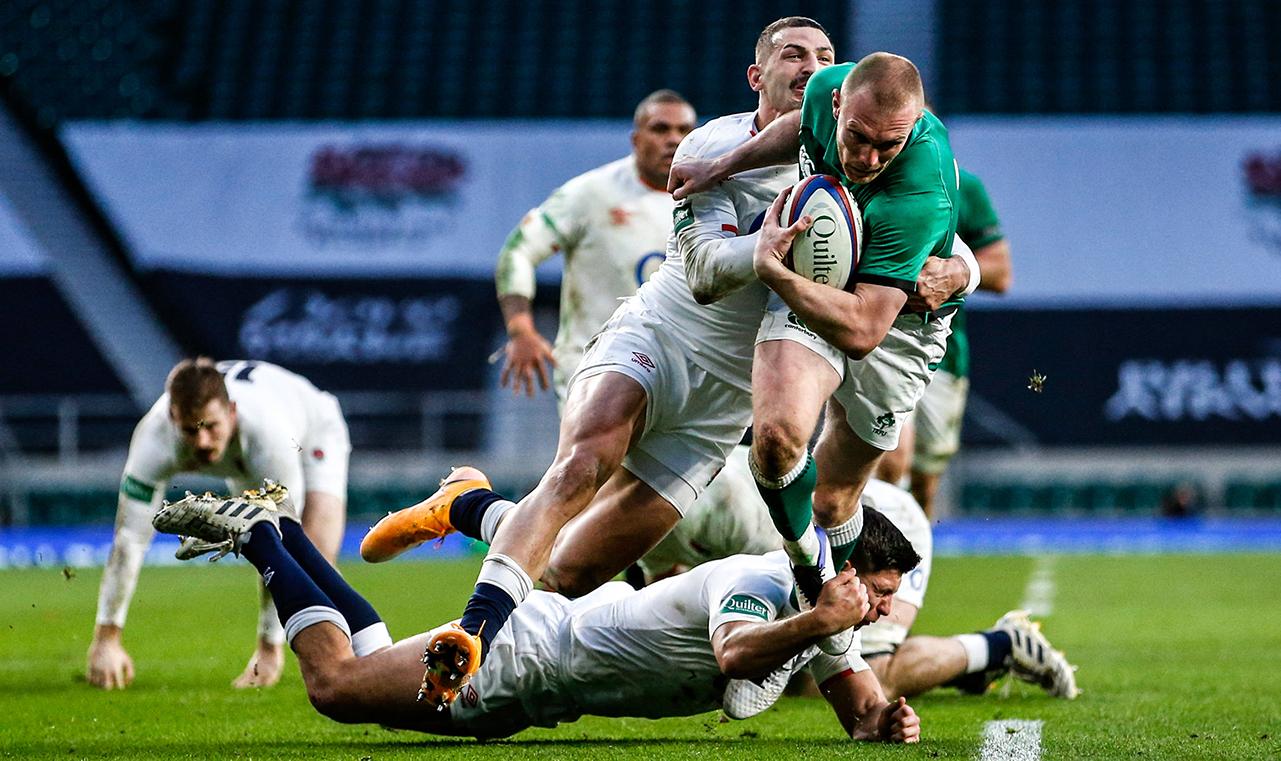 Keith Earls Ireland vs England