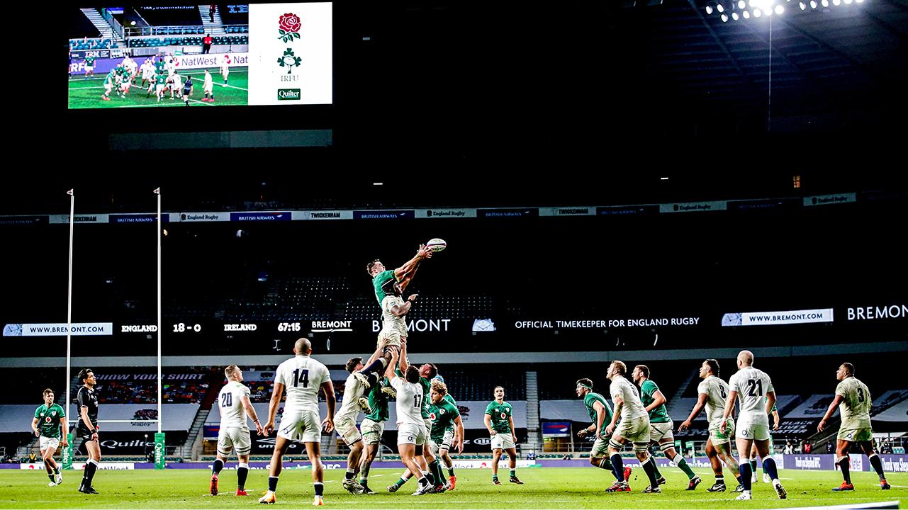 Ireland lineout vs England