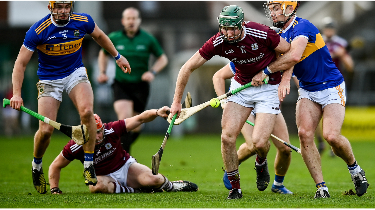Galway and Tipperary battle during the All-Ireland Hurling championship quarter-final