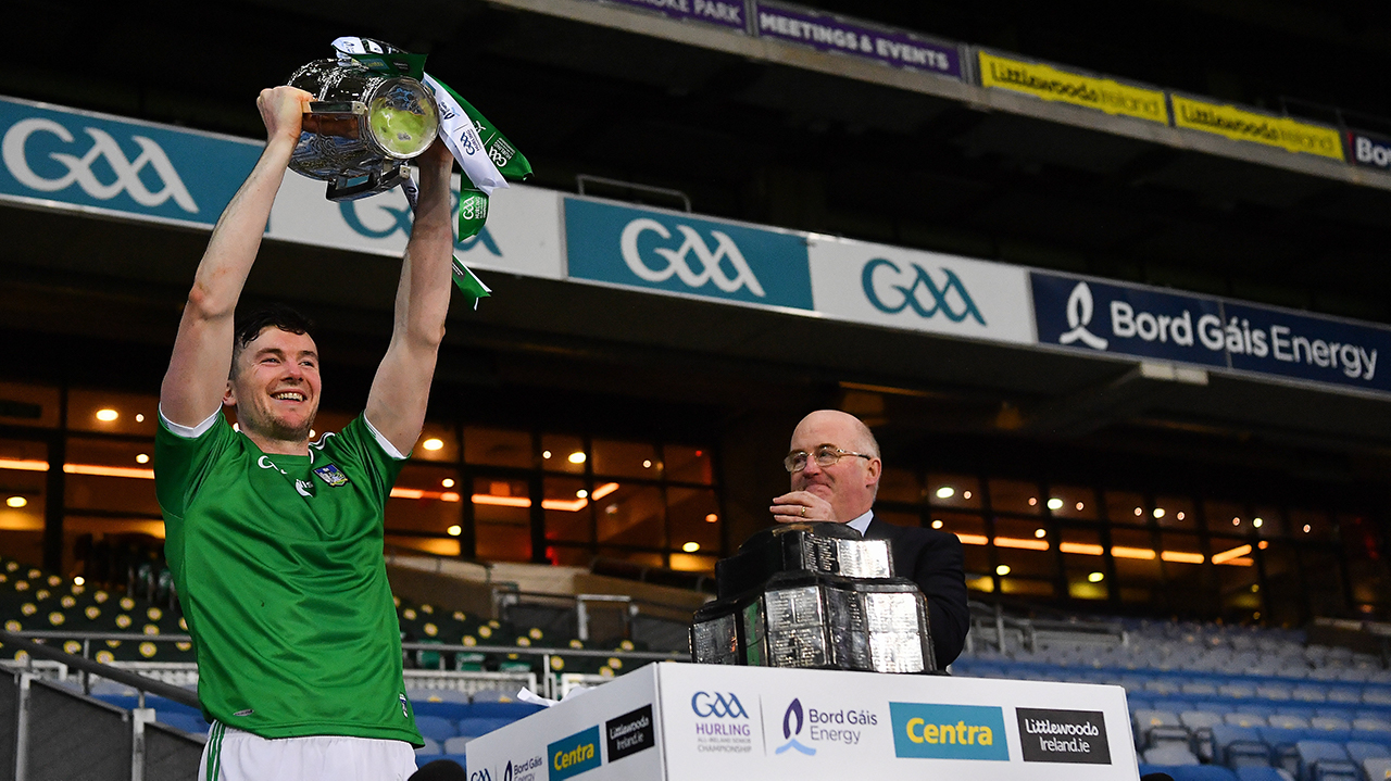 Limerick Liam McCarthy trophy lift