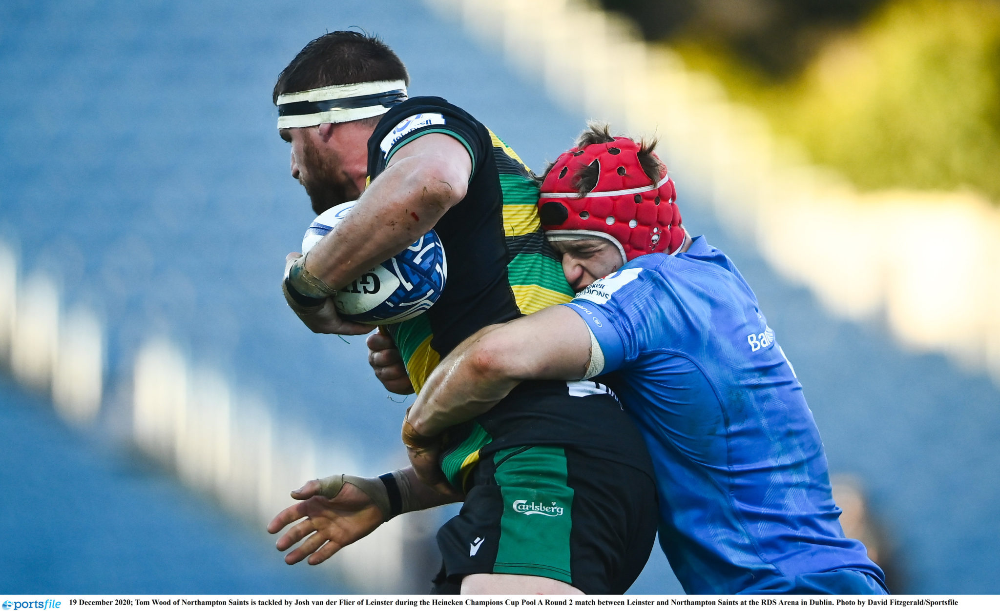 Rugby match between Leinster and Northampton