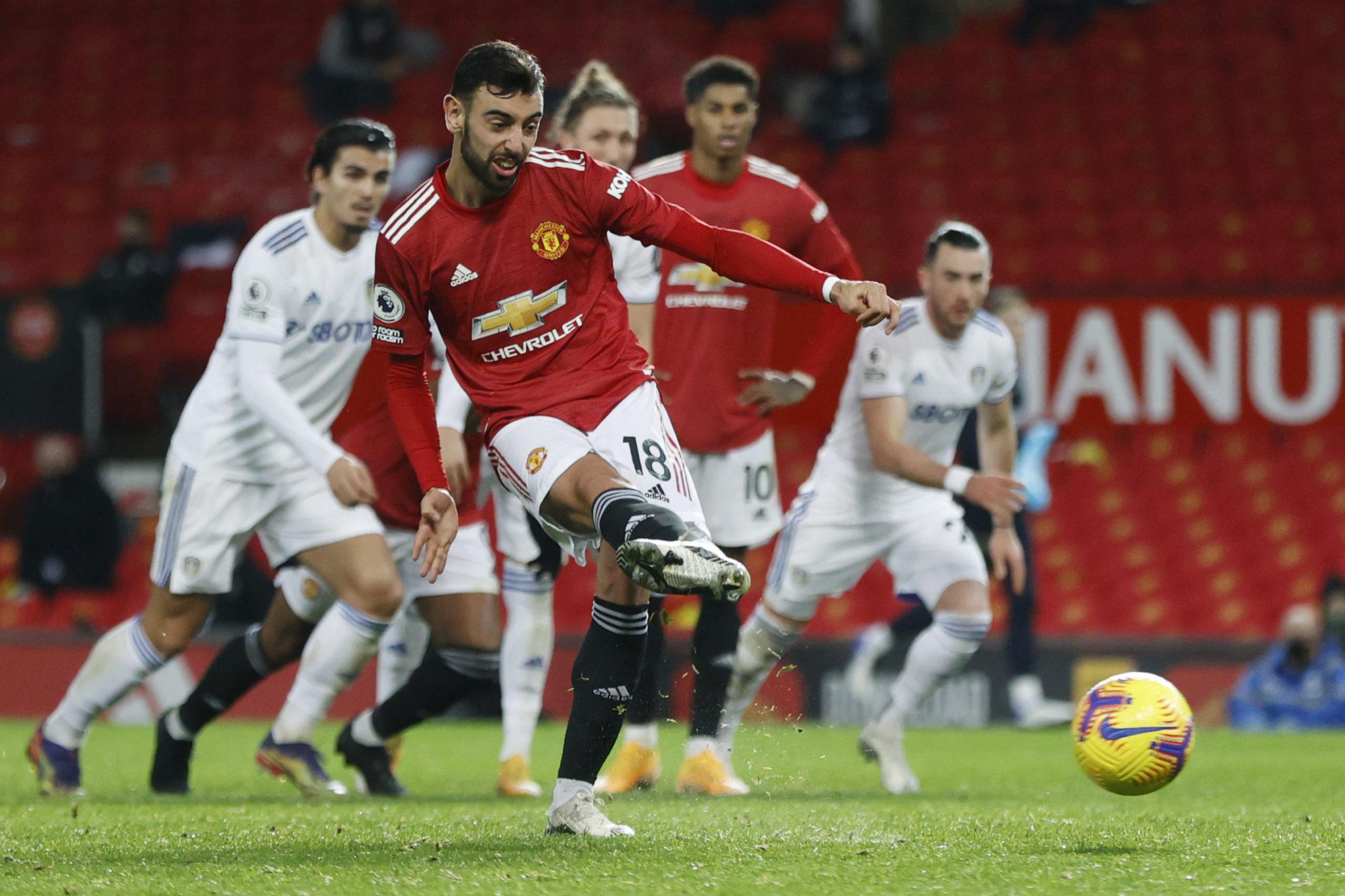 Bruno Fernandes scores for Manchester United