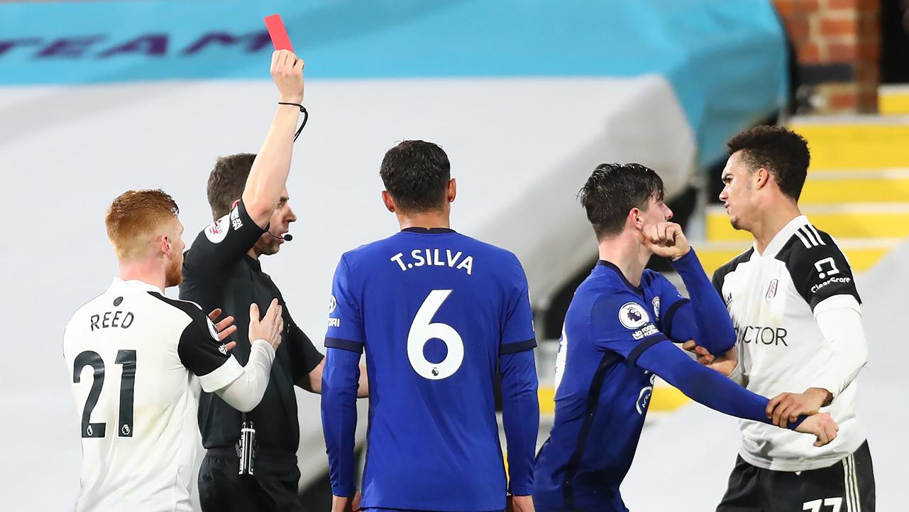 Antonee Robinson Fulham Red Card