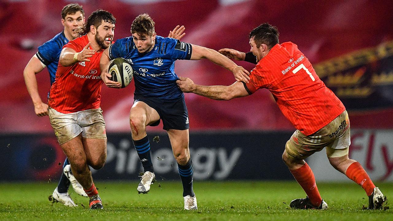 Jordan Larmour Leinster vs Munster