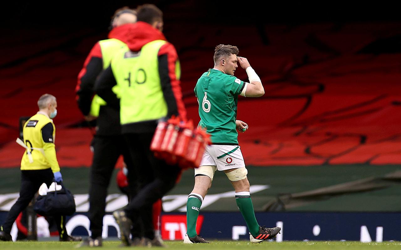Peter O'Mahony Red Card Ireland vs Wales