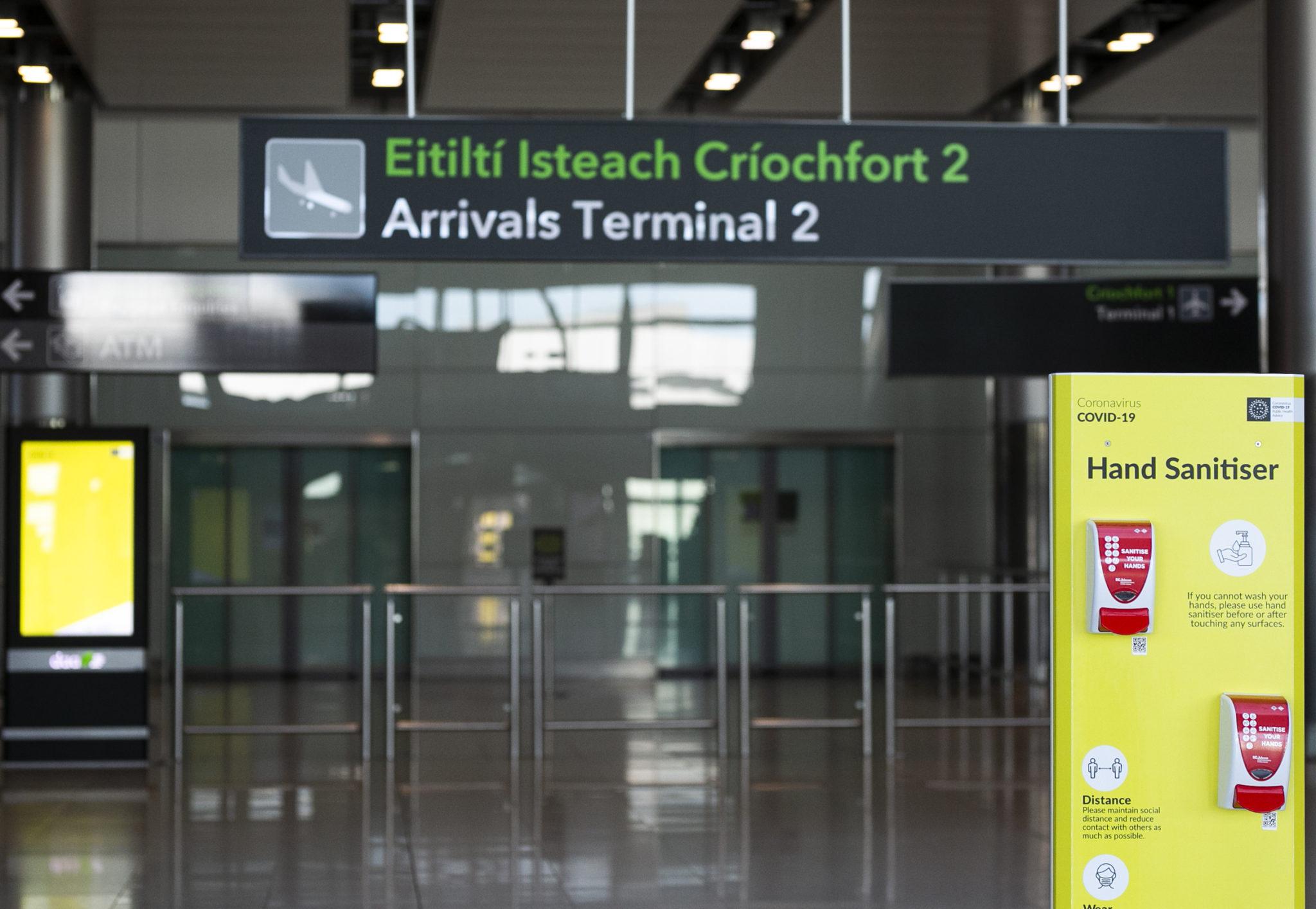 covid-19 variants Dublin Airport mandatory quarantine