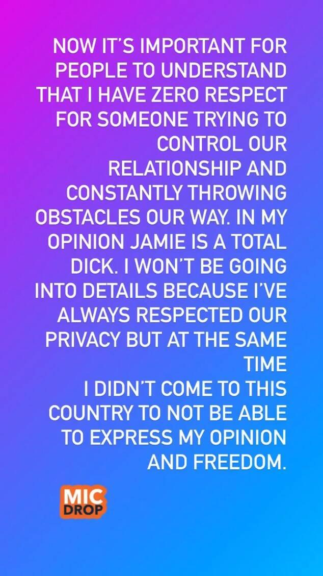 Britney Spears boyfriend statement