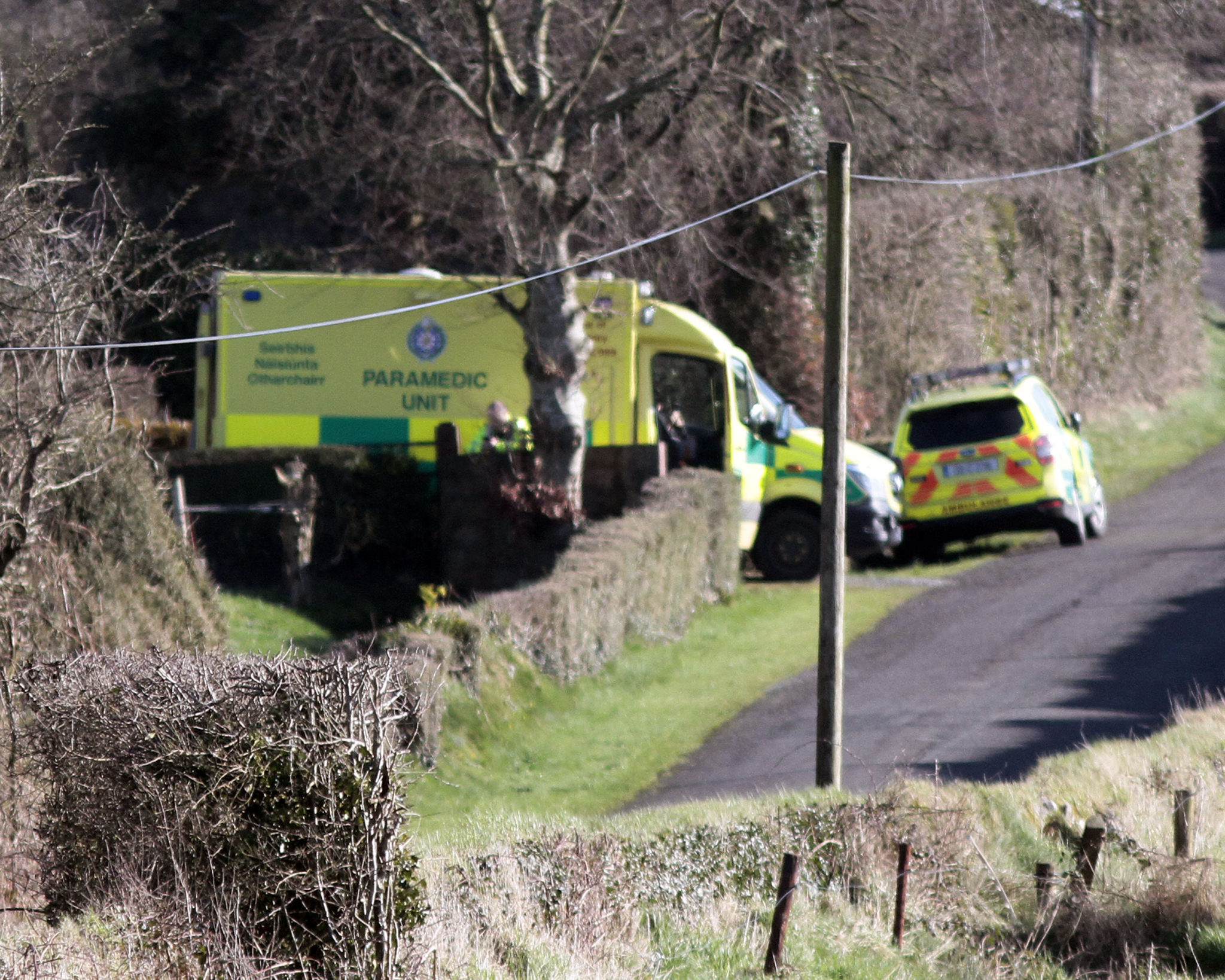 The scene where a body was found in north Cork