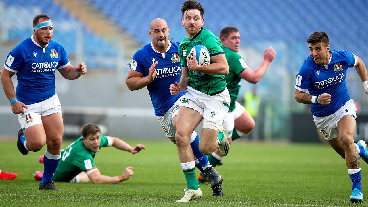 Hugo Keenan Ireland vs Italy