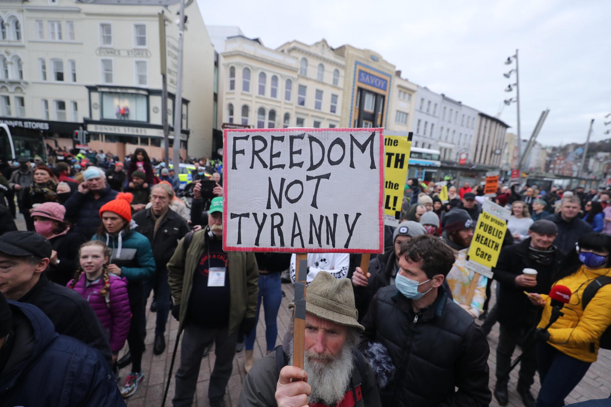 cork anti-lockdown protest