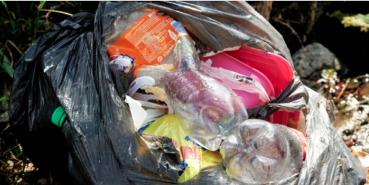 Would printing details on takeway food curb illegal dumping?