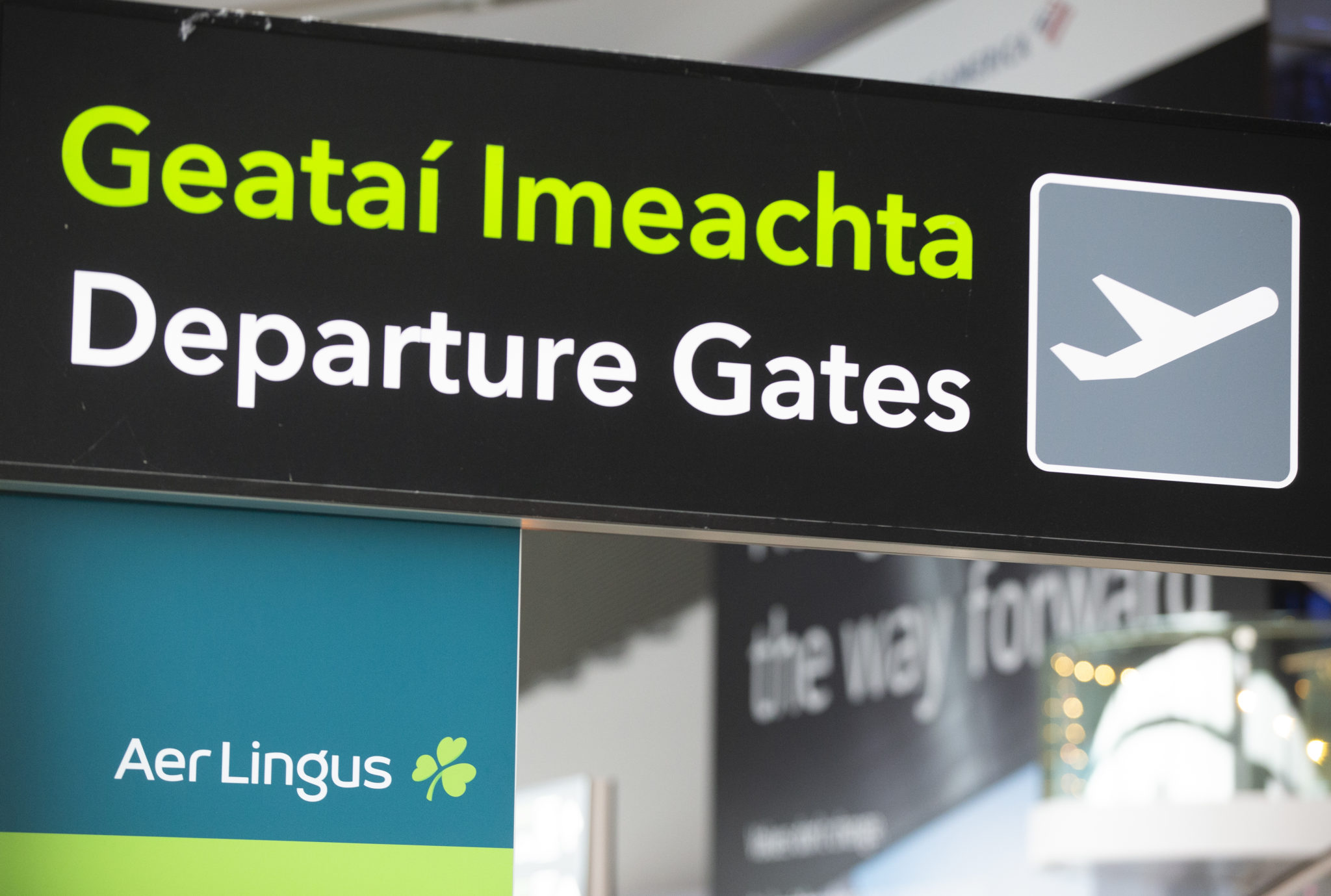 Departure Gates sign at Dublin Airport