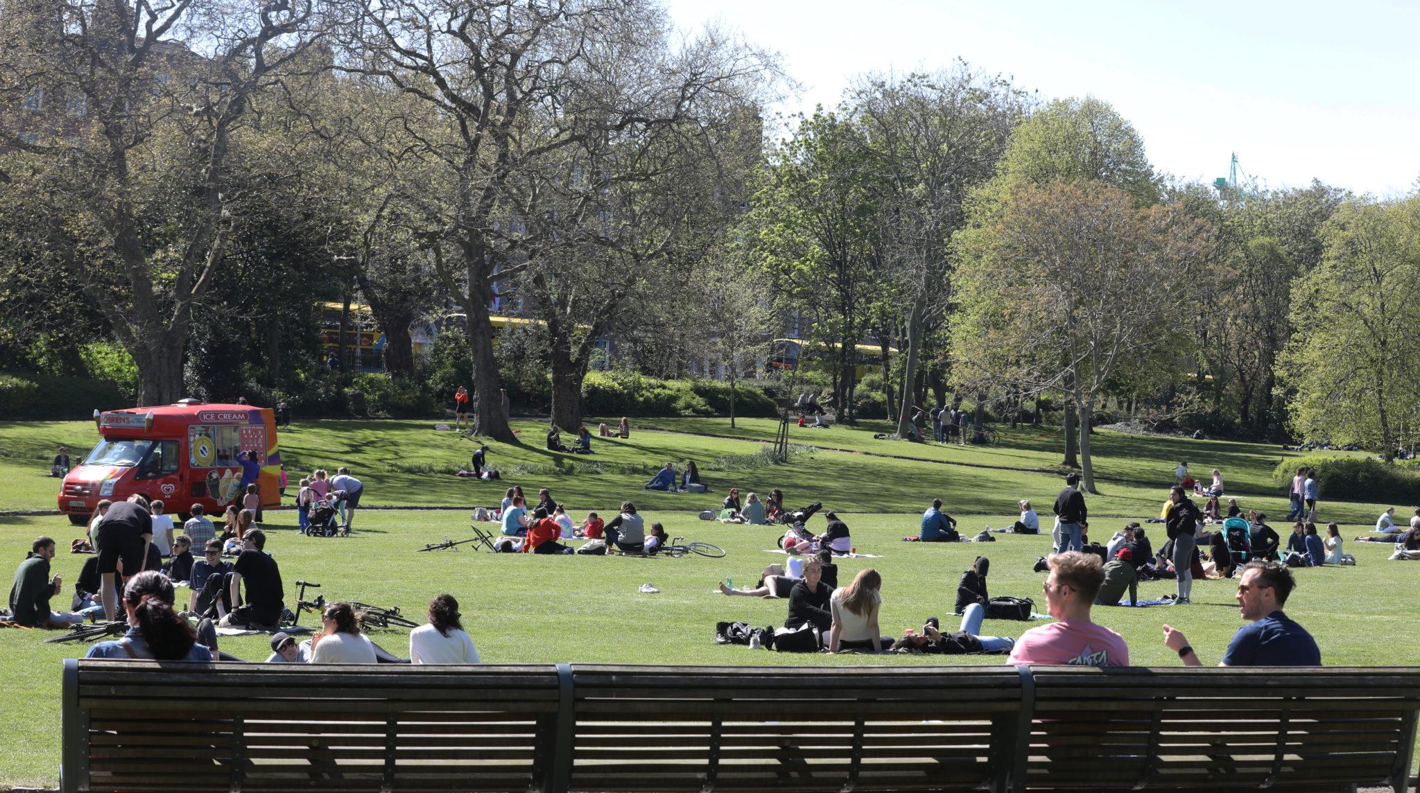 Merrion Square Park in Dublin,