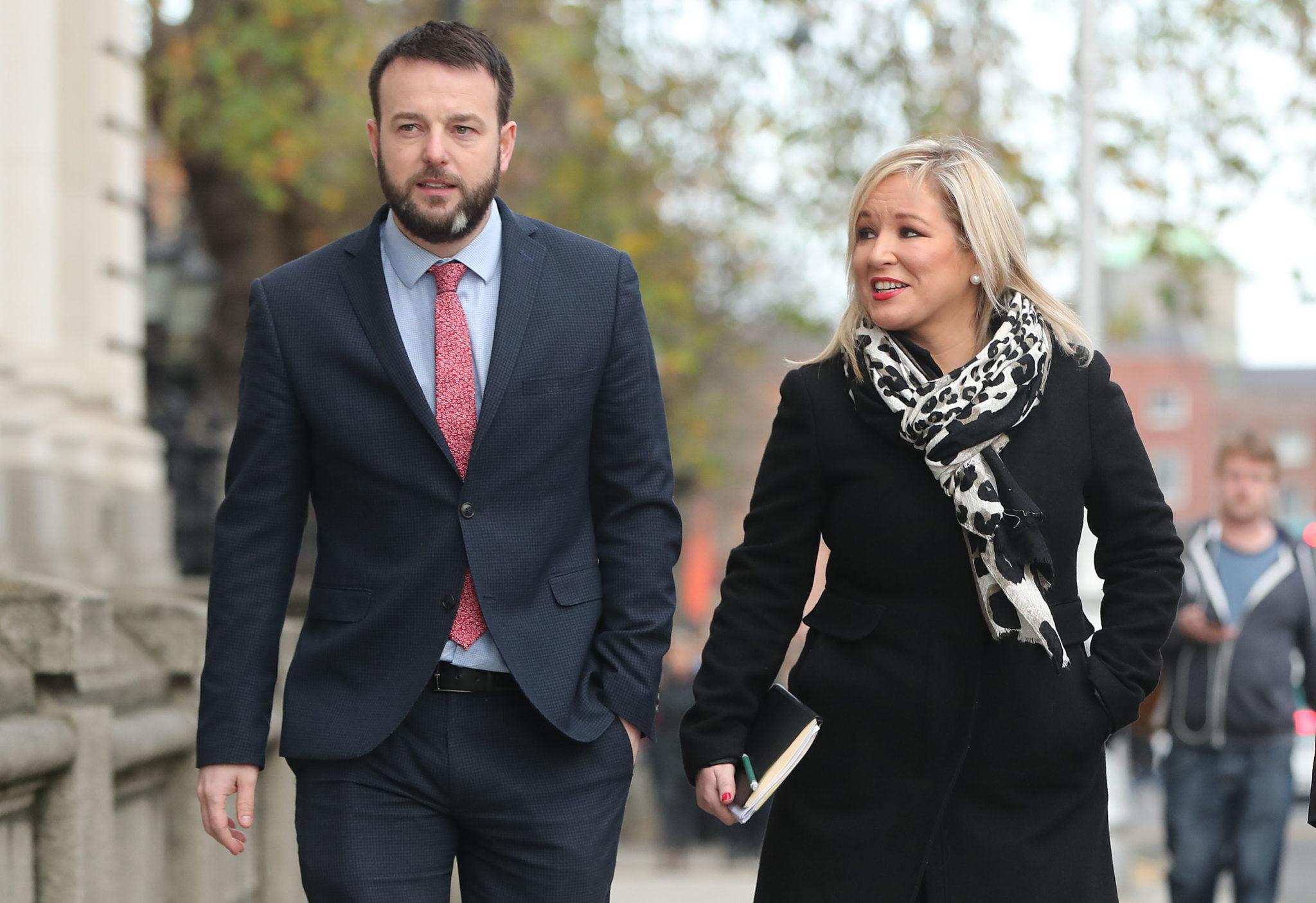 SDLP Leader Colm Eastwood and Sinn Féin Deputy Leader Michelle O'Neill