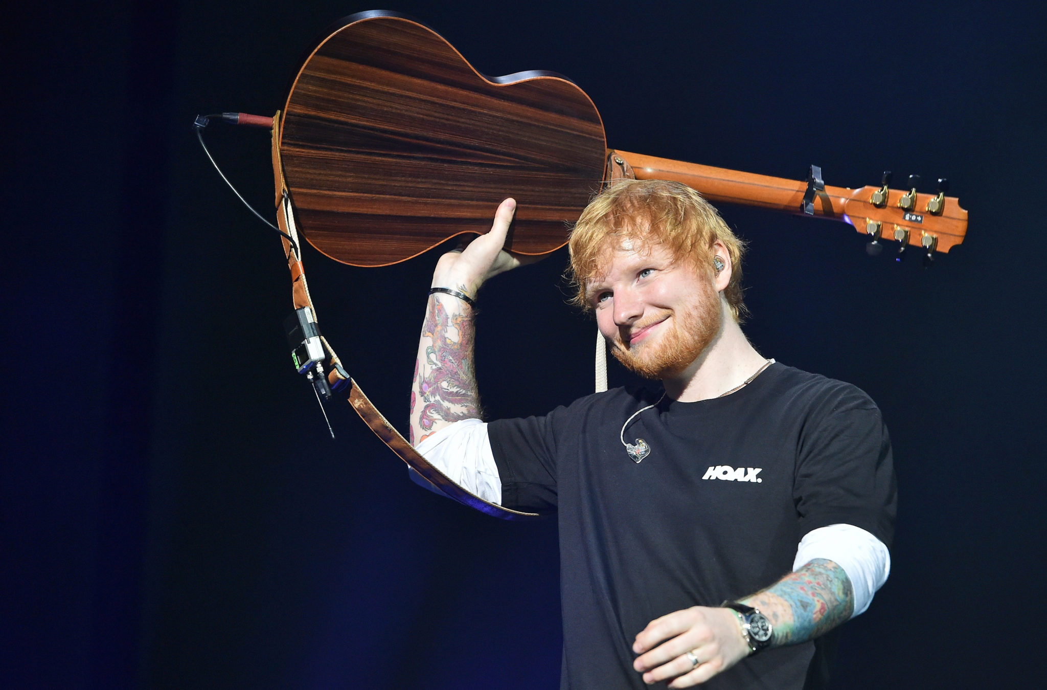 Ed Sheeran performs in Moscow, 19-07-2019.