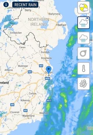 Met Eireann weather app