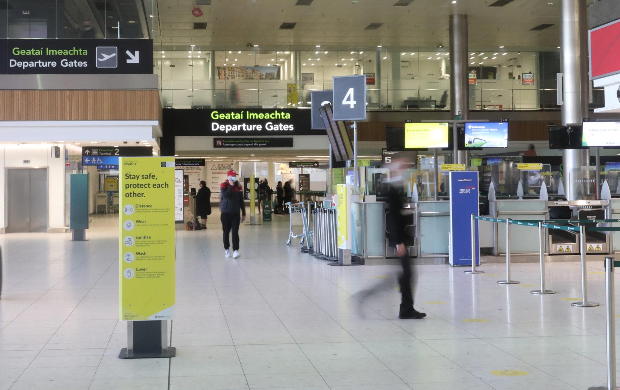 Passengers at Dublin Airport