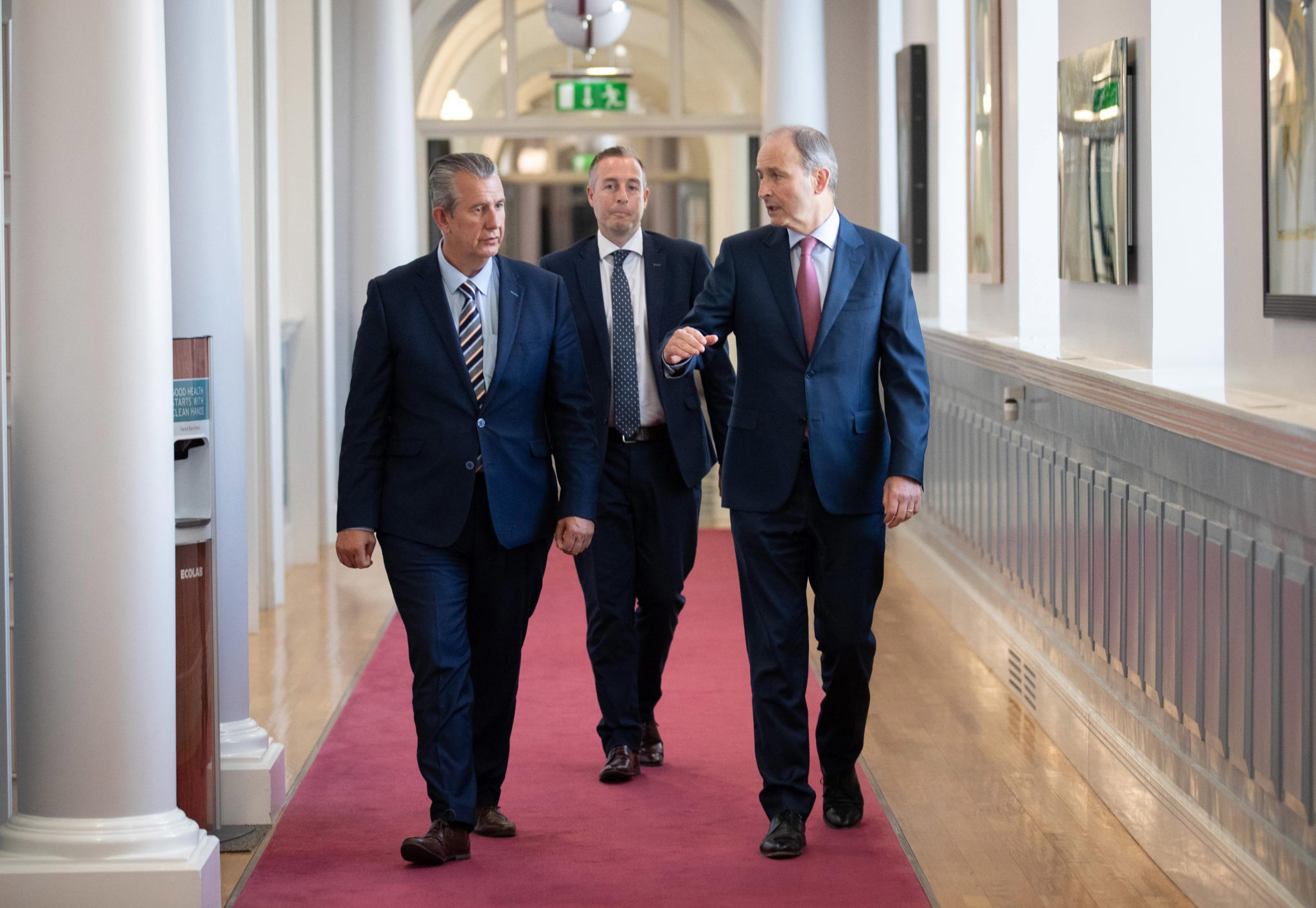 Taoiseach Micheál Martin meeting with DUP Leader Edwin Poots and DUP MLA Paul Givan