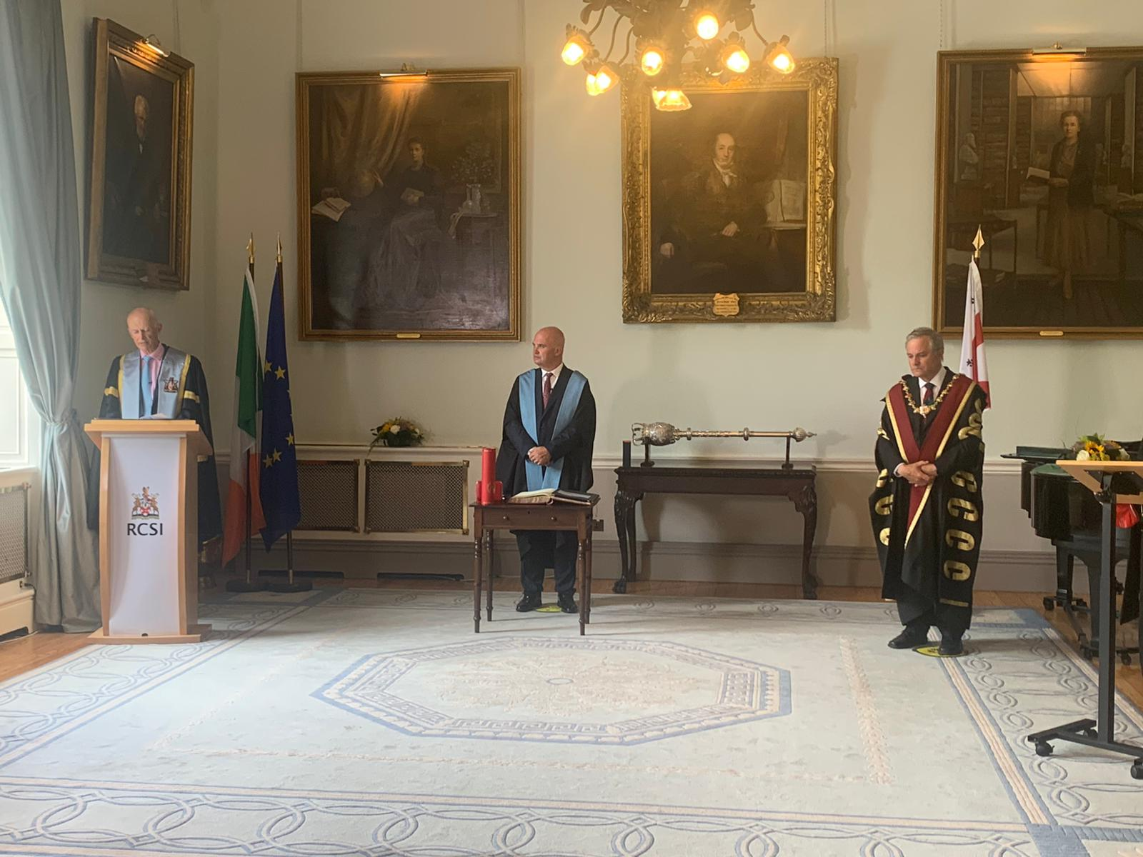 Dr Tony Holohan receiving an Honorary Fellowship from the Royal College of Surgeons in Ireland